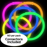 8″ Glow Bracelets: Assorted (50-Pack)