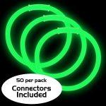 8″ Glow Bracelets: Green (50-Pack)