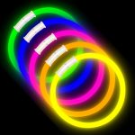 8″ Premium Glow Bracelets (100-Pack) with Connectors Included