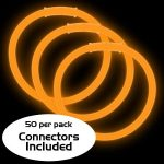 8″ Glow Bracelets: Orange (50-Pack)