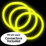 8″ Glow Bracelets: Yellow (50-Pack)