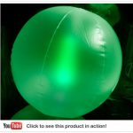 Glow Beach Ball 10″ Green