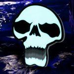 Giant Chomping Electroluminescent Skull