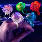 Colorful Diamond LED Bling Ring