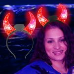 LED Crystal Devil Horns: Red