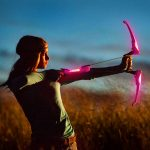 LED Bow & Arrow: Pink with Black