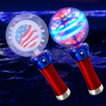 LED Spinner Wand: Red, White and Blue
