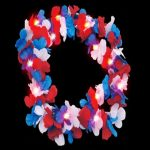 Flashing Lei: Red/White/Blue