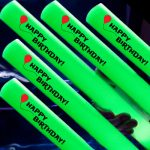 "Glowing LED Foam Sticks – ""Happy Birthday!"" Imprint (Pack of 10)"