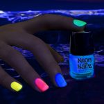 Glow in the Dark Neon Nail Polish: Blue