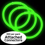 8″ Premium Glow Bracelets – Green (100-Pack)