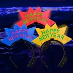 LED Happy New Year Crown Headband