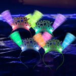 Fiber Optic Happy New Year Headband
