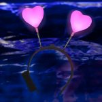 Light Up Heart Head Boppers