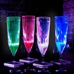 Liquid Activated Light-Up Champagne Flutes