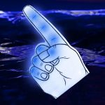 LED Foam Finger: Blue