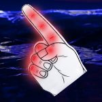 LED Foam Finger: Red