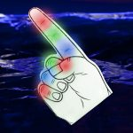 LED Foam Finger: Multicolor