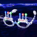 LED Light Up Happy Birthday Eyeglasses