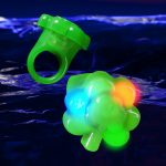 led-jelly-shamrock-rings