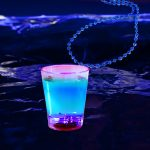 LED Shot Glass with Bead Necklace