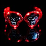 LED Light Up Skull Sunglasses Red Lights (NEW!)