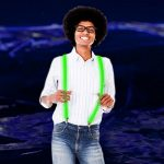 LED Light Up Suspenders: Green