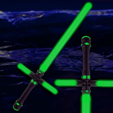 led-tri-saber-sword-green
