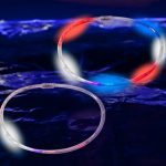 LED Chaser Necklaces Red, White, Blue