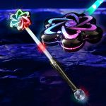 Metallic Light Up LED Flower Wand