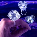 White LED Diamond Bling Rings