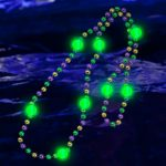 Light Up Bead Necklace: Purple, Green, Gold