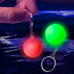 Light-Up Mini Ball Keychain