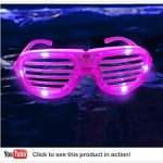 LED Shutter Glasses Pink