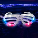 LED Shutter Glasses Red, White, Blue