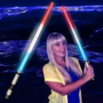 Patriotic Light Saber Sword – Red/White/Blue