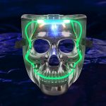 8″ Light Up Skull Mask (NEW!)