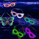 Mardi Gras Glow Masks