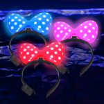 LED Minnie Mouse Hair Bow