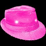 Light Up Fedora Hat Pink