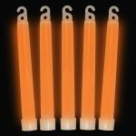 Premium 6″ Glow Sticks Orange (25 per pack!)