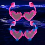 LED Heart Shaped Glasses: Pink