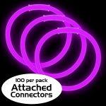 8″ Premium Glow Bracelets – Purple (100-Pack)