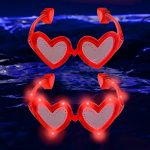 Red LED Heart Shaped Glasses
