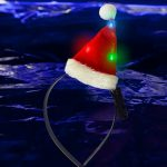 Light-Up Mini Santa Hat Headband