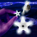 Flashing Star Magnet Pin
